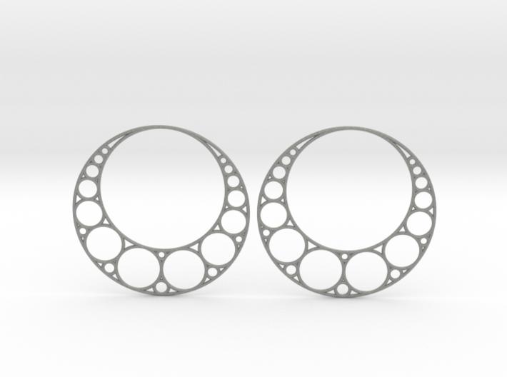 Apollonian Earrings 3d printed