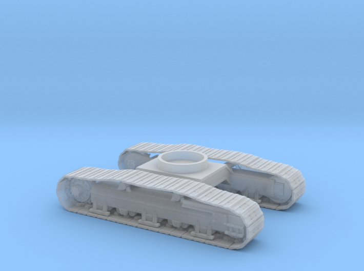 1/87th Track undercarriage for Gradall Excavator 3d printed