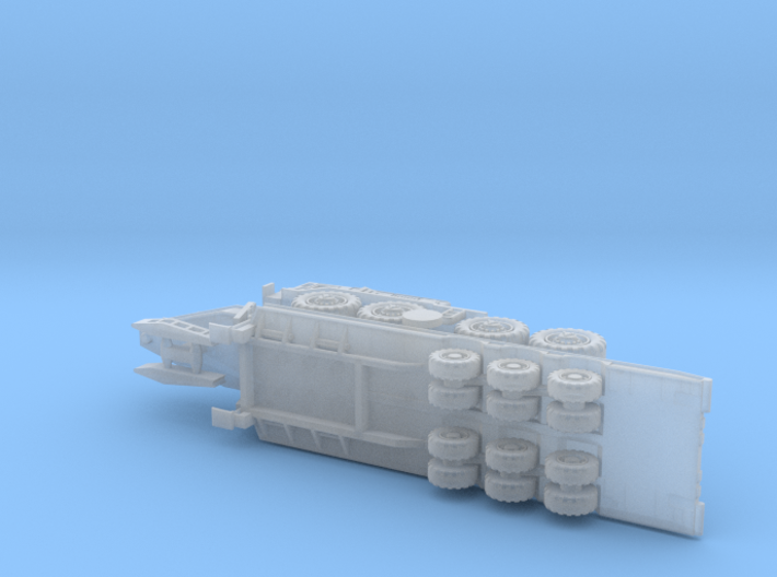 MAZ 537G late w. CHmZAP 9990 Trailer 1/220 3d printed