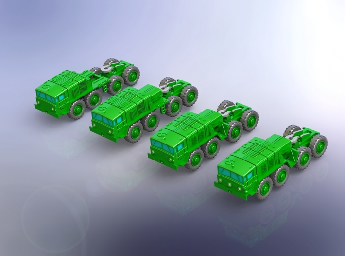 MAZ 537G 8x8 Tractor Truck Variants 1/285 3d printed