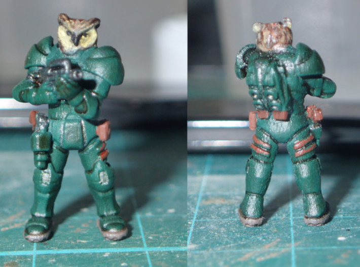 Space Owl Warrior 3d printed Painted version