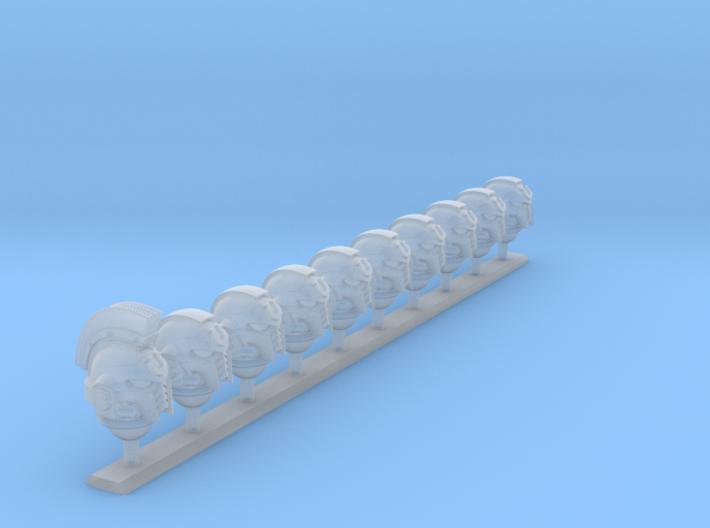 10x Ultra Legion - G:10 Prime Helms : Squad1 3d printed