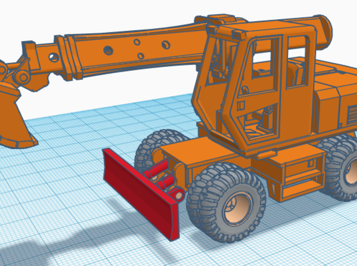 1/64th four wheel carrier for Gradall excavator 3d printed