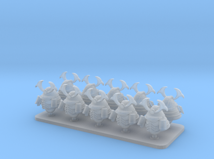 Cyber Samurai V10 Primus Samurai Helmets 3d printed