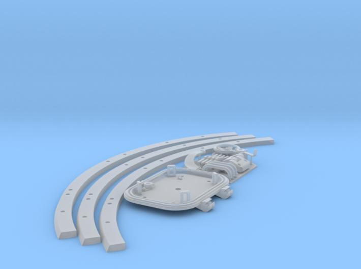 1:10 Tiger I loader's hatch w/turret splash ring 3d printed