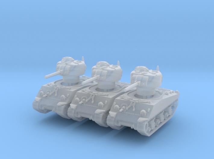 M4A3 Sherman 75mm late (x3) 1/220 3d printed