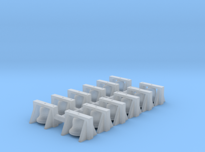 GE Style Roof Mount Bell (N - 1:160) 12X 3d printed