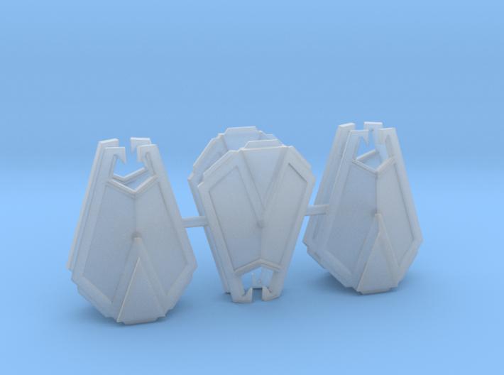 Dwarven Kite Shields (x6) 3d printed