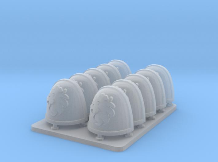 Celestial Lions v7 Rimmed Shoulderpads 3d printed