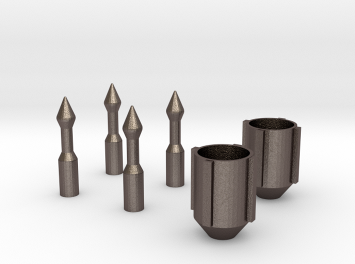 Bo Katan Guantlet Nozzle and Darts 3d printed