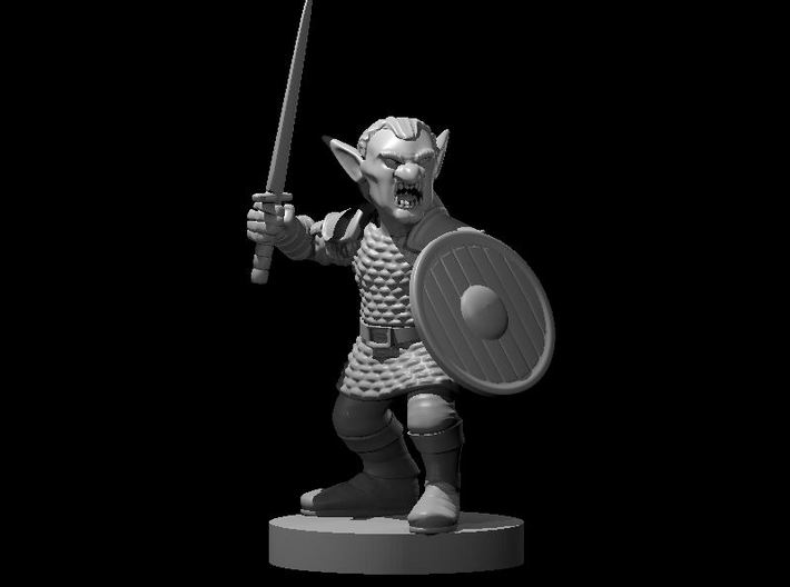 Goblin Male Fighter 3d printed