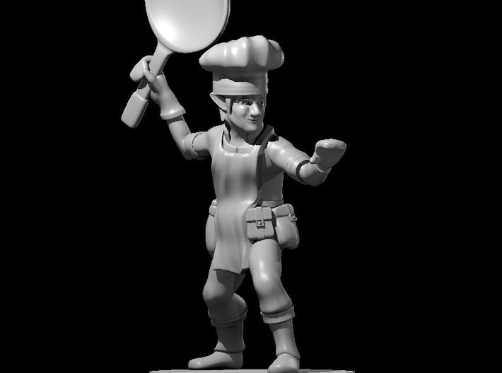 Gnome Chef Fighter 3d printed