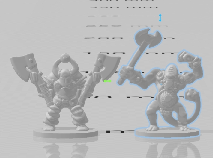 Fimirs 6mm Infantry Epic fantasy miniature models 3d printed