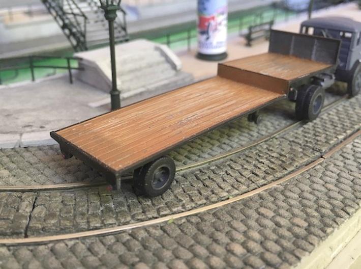 Single axle low loader semi trailer  - Ho 1:87 3d printed