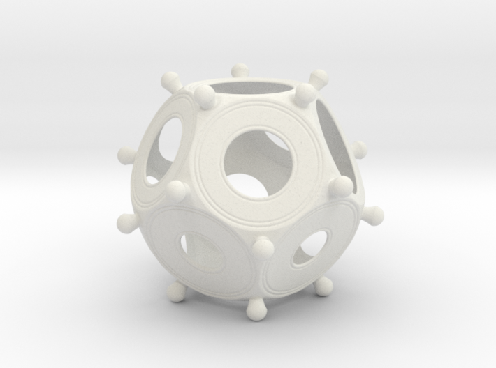 Roman Dodecahedron 100 Large 3d printed