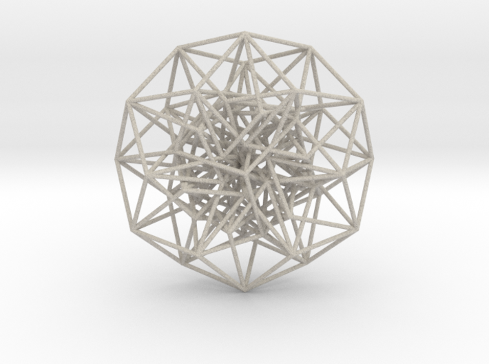 Toroidal 6D Hypercube 200mm diameter Rainbow 3d printed