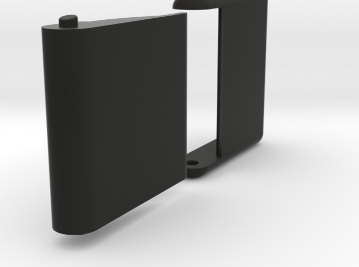 "Slim, folding card holder for 2"" square cards 3d printed"