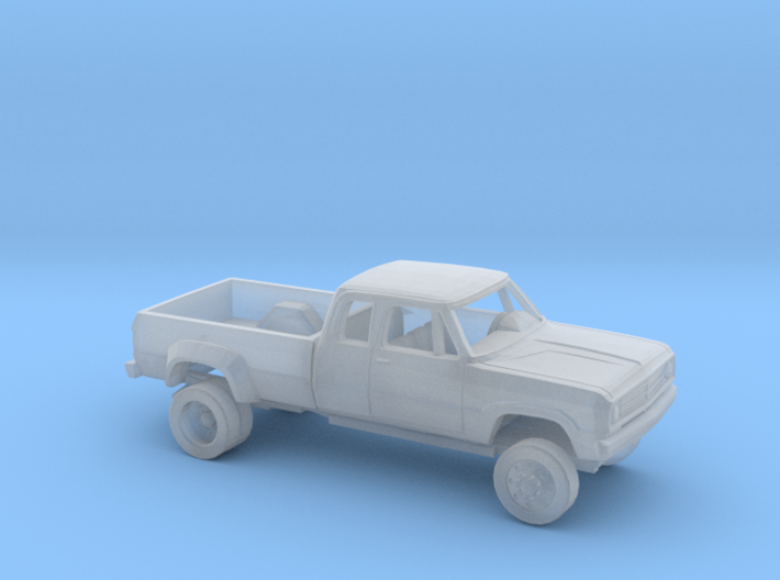 1/87 1972 Dodge D-Series Ext. Cab Dually Bed Kit 3d printed
