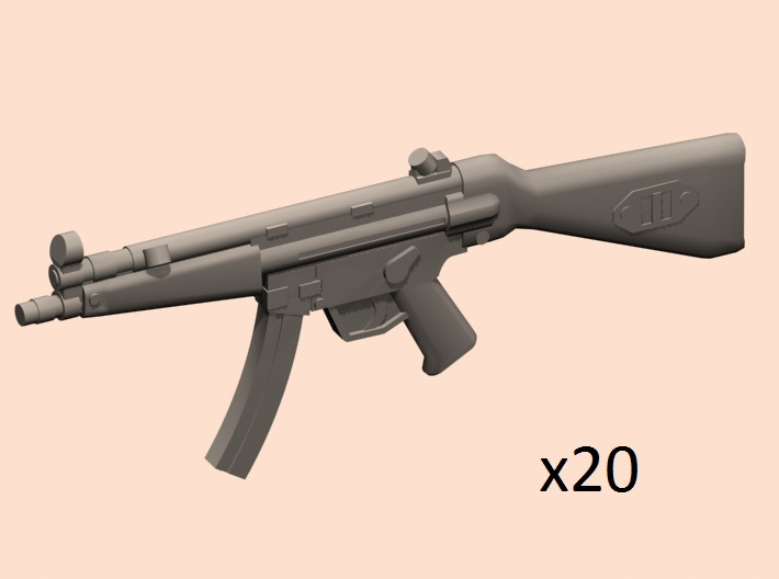 1/30 scale MP5A4 3d printed