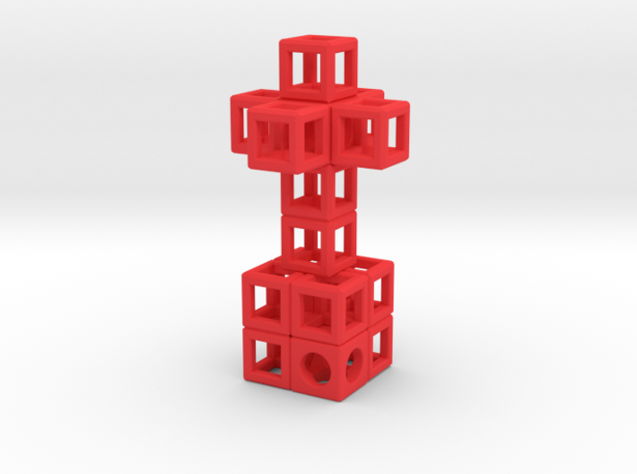 JEWELRY Pendant: Cross with Cube-Base (48 x 24mm) 3d printed A great Love Gift