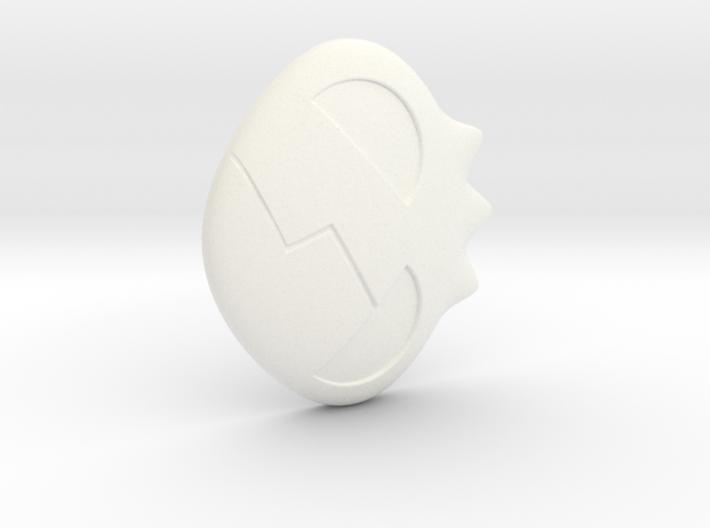 Yoko Skull Hair Clip 3d printed