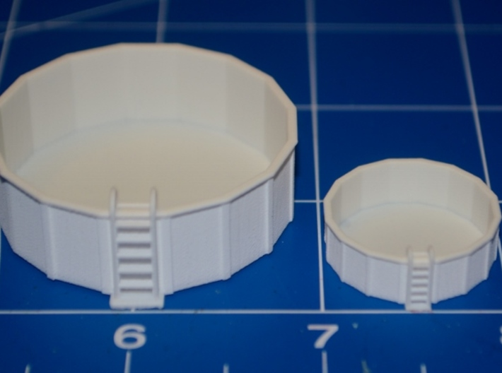 HO-Scale 12-Foot Swimming Pool 3d printed HO & N Scale Production Samples