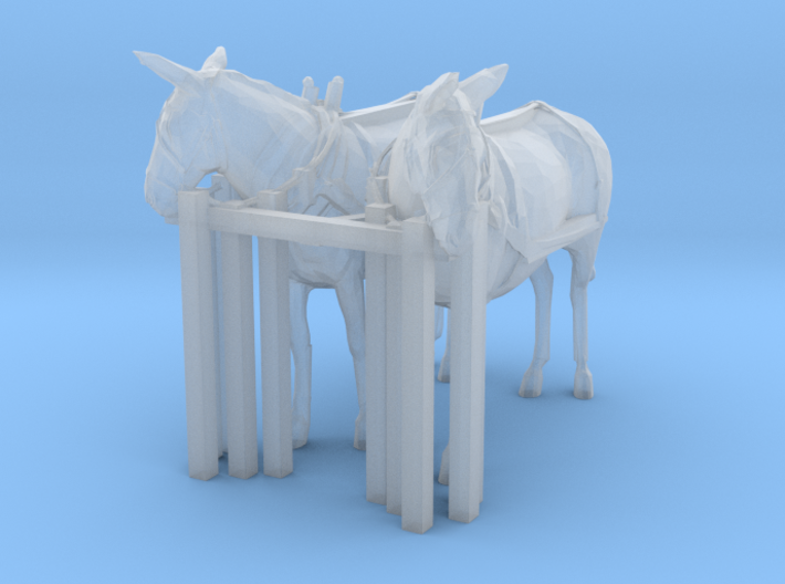 HO Scale Mule Team 3d printed This is a render not a picture