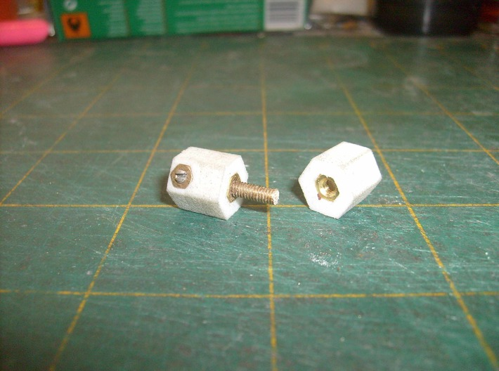 Axle Drilling Jig part 1 4mm scale  3d printed Add a caption...