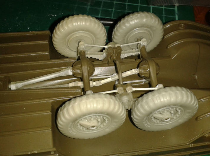 DUKW suspension correction set Italeri Airfix 1:35 3d printed With Resicast wheels