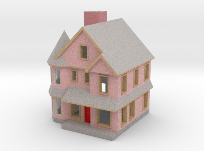 Queen Anne House - Zscale 3d printed