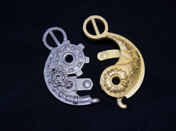 Yang Mechanical LARGE 3d printed Yang mechanical and Ying Nature LARGE pendants