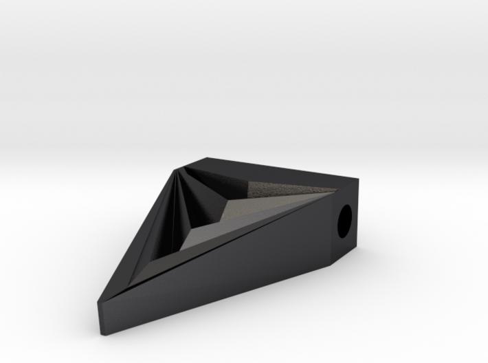 Unisex Futuristic Triangle Arrowhead Pendant 3d printed