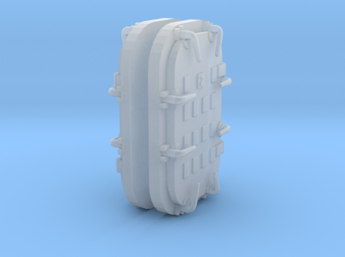 1/128 USS Iowa Doors for Tub 40mm Deck 3 Midship 3d printed