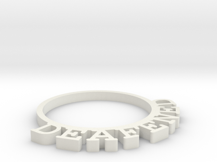 D&D Condition Ring, Deafened 3d printed