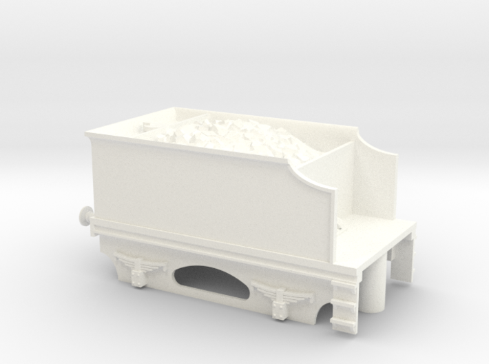 4 Wheel Tender With Coal and Bearing Sockets 3d printed