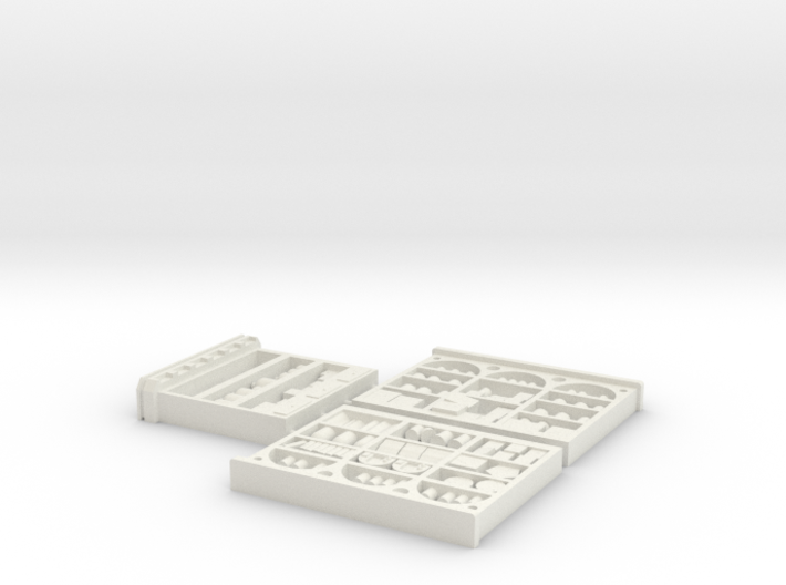 S Scale INTERIOR Shelving Set Super Detailed 3d printed