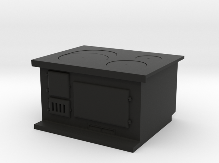1:12 Cast Iron Stove - Swedish Vintage 3d printed Cast iron stove - 1:12 scale (plastic)