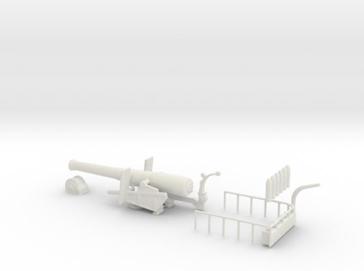 bl 9.2 inch gun 1/76 model kit oo rail railway 3d printed