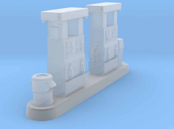 Gas fuel petrol pump modern 3d printed