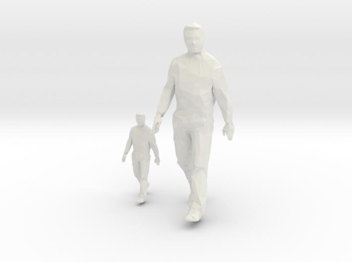 Architectural Man - 1:50 + 1:100 - Walking 3d printed