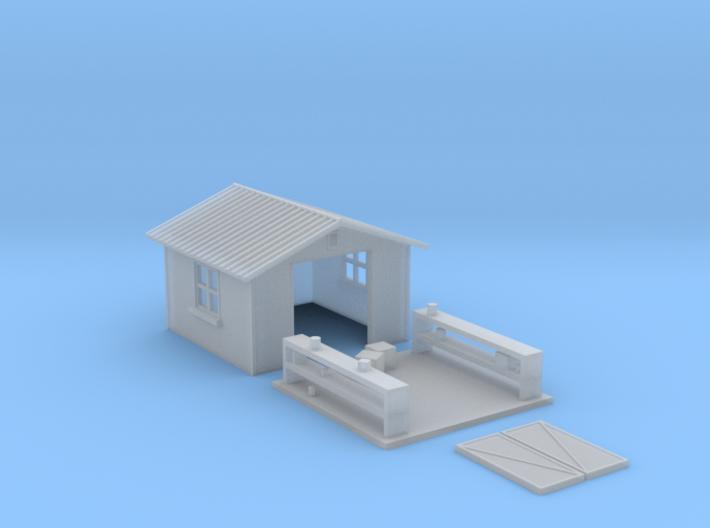 HO-Scale Backyard Shed (Revised) 3d printed Revised Model
