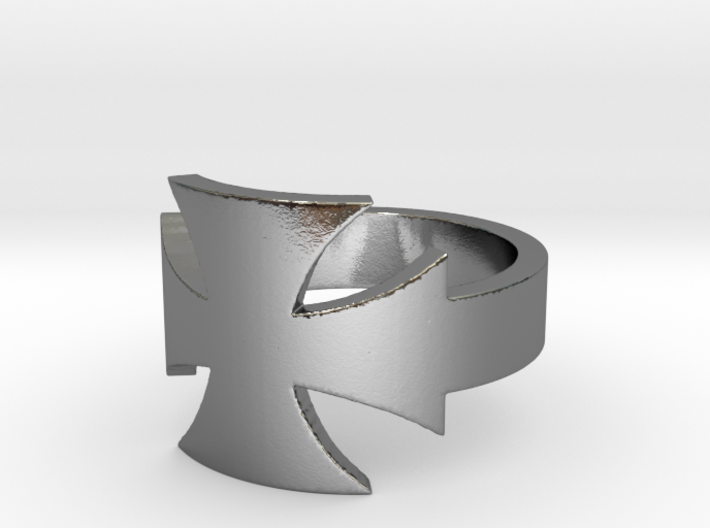 Outlaw Biker Iron Cross Ring Size 12 3d printed