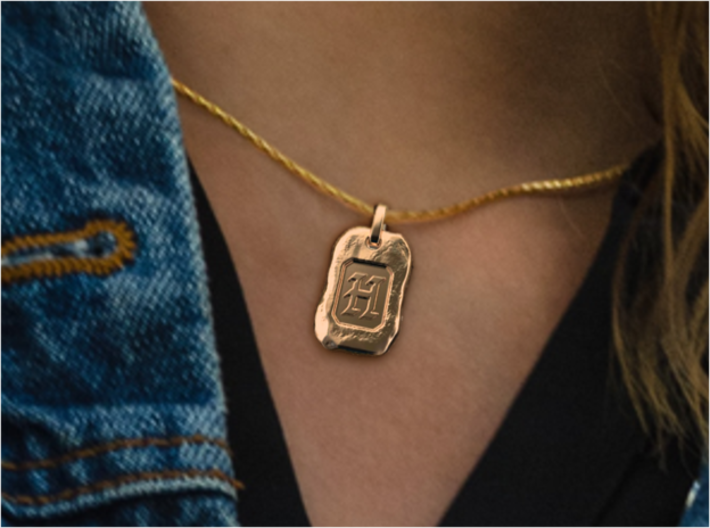 Old Gold Nugget Pendant S 3d printed Nugget H of A-Z pendants