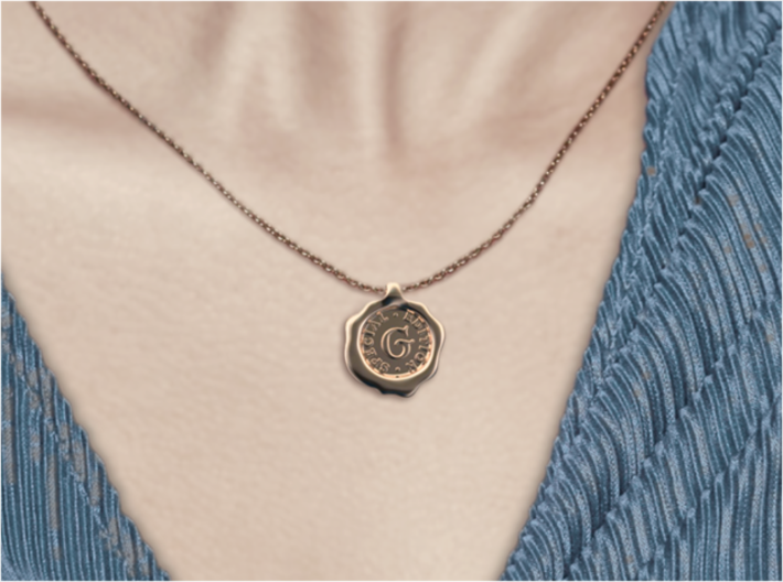 Seal Pendant X 3d printed Seal G of A-Z pendants