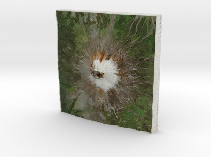 Volcan Cotopaxi, Ecuador, 1:100000 3d printed