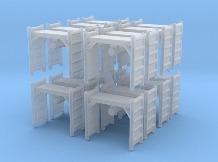 Scaffolding Unit (x16) 1/220 3d printed