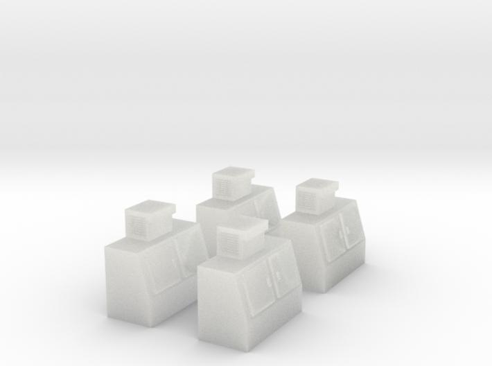 N-Scale Double Door Cooler - 4 Pack 3d printed