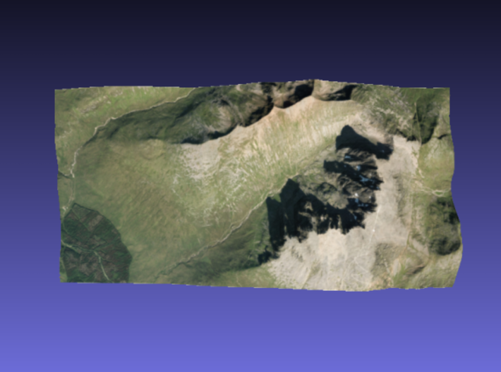 Ben Nevis - Photo 3d printed Surface of Ben Nevis - Photo model