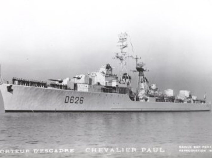 Nameplate Chevalier Paul 3d printed T 47 (Surcouf) class destroyer Chevalier Paul.