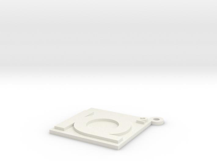 IQ2 Logo Keychain 3d printed